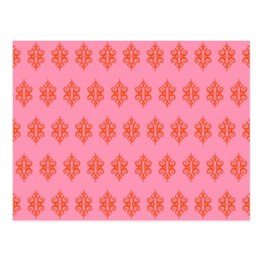Professional Business Pink Lace Thank You Postcard