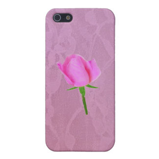 Pink Lace with Pink Rose iPhone SE/5/5s Case