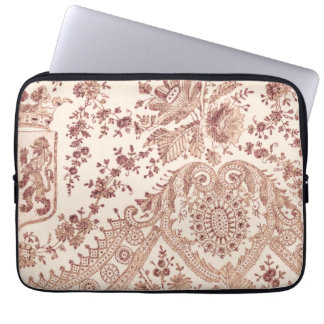 Pink Lace With Roses Laptop Sleeve
