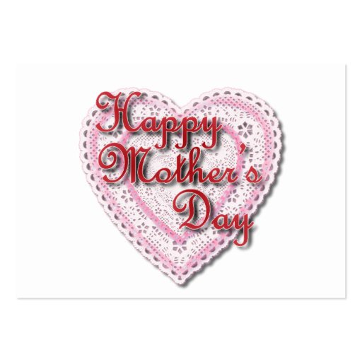 Pink Laced Heart for Mother's Day Large Business Cards (Pack Of 100)