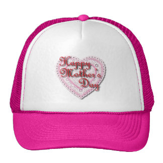 Pink Laced Heart for Mother's Day Hat