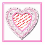 Pink Laced Heart Photo Frame Acrylic Cut Outs