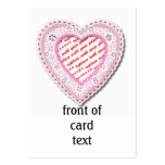 Pink Laced Heart Photo Frame Business Cards