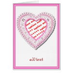 Pink Laced Heart Photo Frame Cards