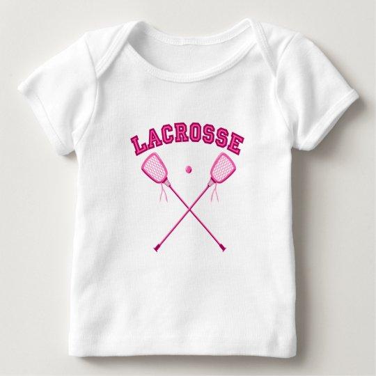 Pink Lacrosse Logo Baby T-Shirt