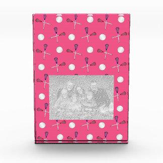 Pink lacrosse pattern acrylic award