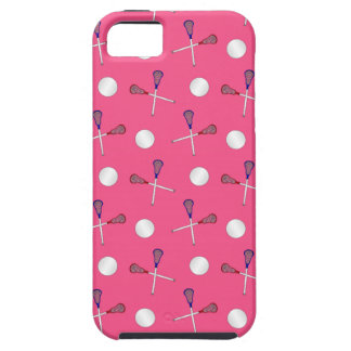 Pink lacrosse pattern iPhone 5 covers