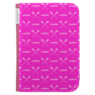 Pink Lacrosse Sticks Kindle Case