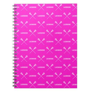 Pink Lacrosse Sticks Notebook