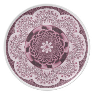 Pink Lacy Weave Plate
