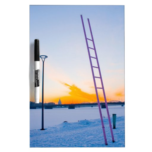 Pink Ladder to Nowhere Dry-Erase Board