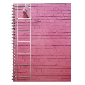 Pink Ladder to Success Notebook