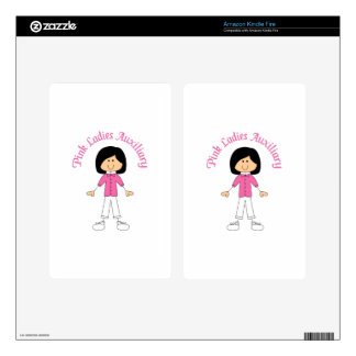 PINK LADIES AUXILIARY SKIN FOR KINDLE FIRE
