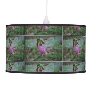 Pink Ladies Slipper Hanging Lamp