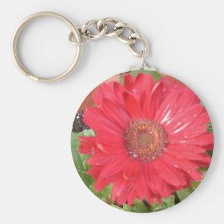 pink lady 2 basic round button keychain