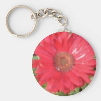 pink lady basic round button keychain