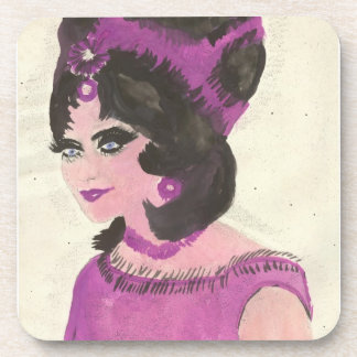 Pink Lady Beverage Coaster