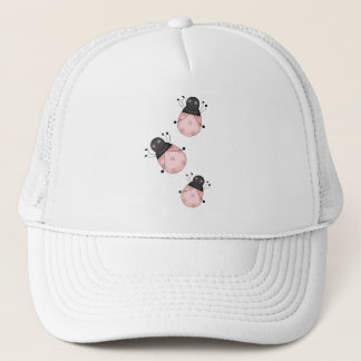 Pink Lady Bug Trucker Hat