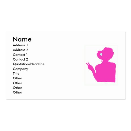 Pink Lady Business Card