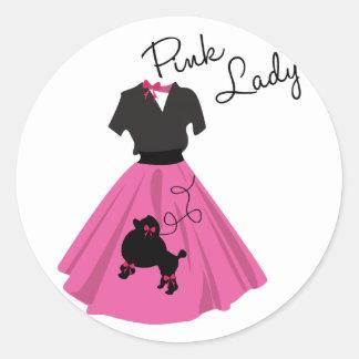Pink Lady Classic Round Sticker