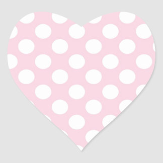 Pink Lady Collection - Big White Dots Heart Sticker