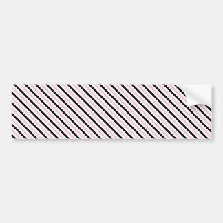 Pink Lady Collection - Diagonal Pink Black Stripes Bumper Sticker