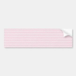 Pink Lady Collection - Horizontal Stripes Car Bumper Sticker