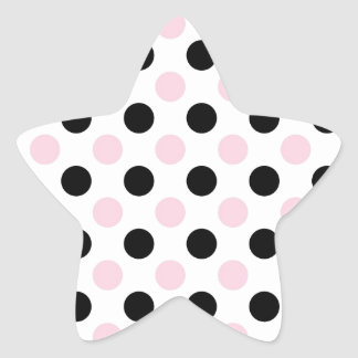Pink Lady Collection - Pink Black Dots Star Sticker
