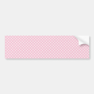 Pink Lady Collection - White Stars Bumper Sticker
