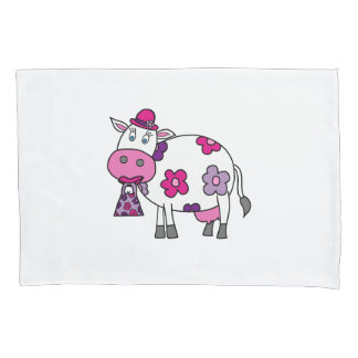 Pink Lady Cow Pillowcase