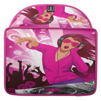 Pink Lady DJ MacBook Pro Sleeve For MacBooks