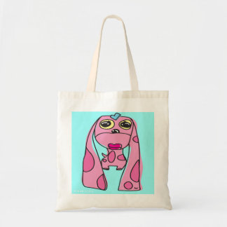 Pink Lady Droopy Ear Dog Tote Bag