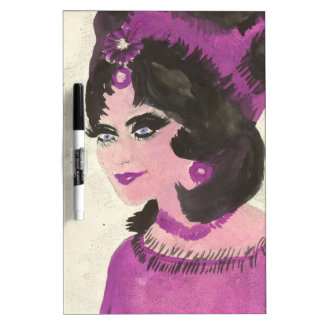 Pink Lady Dry-Erase Board