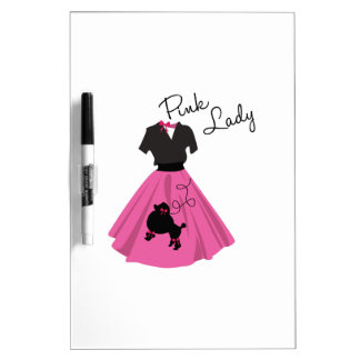 Pink Lady Dry Erase Boards