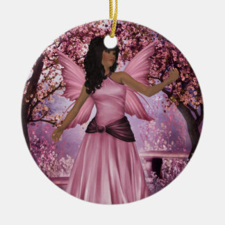 Pink Lady Fairy Ornament