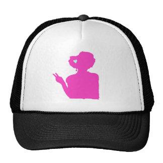 Pink lady hat