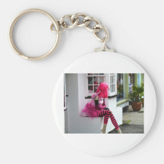 Pink Lady in waiting Keychain