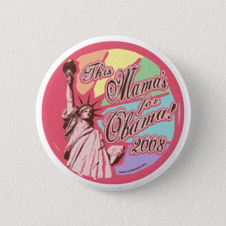 Pink Lady Liberty Obama Button