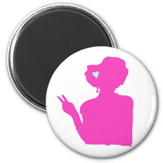 Pink lady magnet