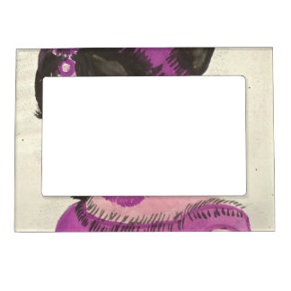 Pink Lady Magnetic Photo Frame
