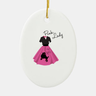 Pink Lady Christmas Tree Ornaments