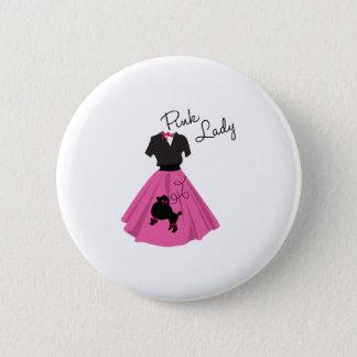 Pink Lady Pinback Button