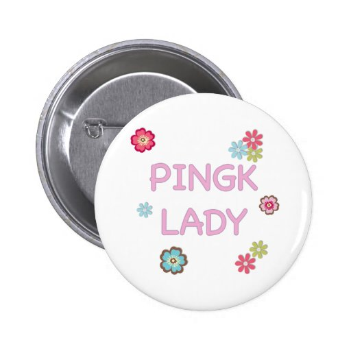 Pink Lady Ping Pong Pinback Buttons