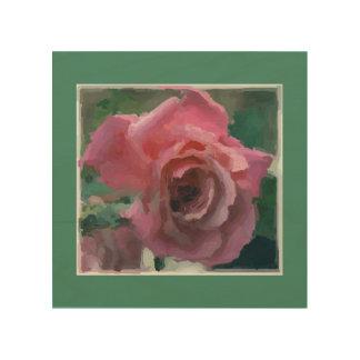 Pink Lady Rose Wood Wall Art