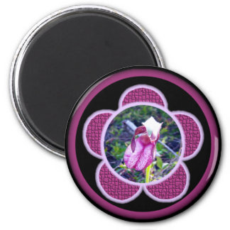 Pink Lady Slipper 2 Magnet