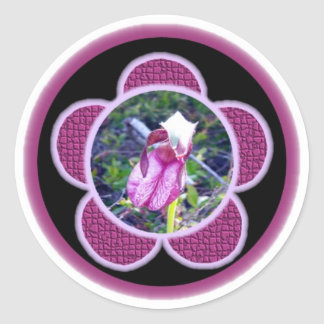 Pink Lady Slipper 2 Sticker