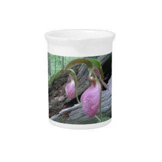Pink Lady Slipper Beverage Pitcher