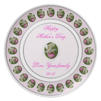 Pink Lady Slipper Mother's Day Plate
