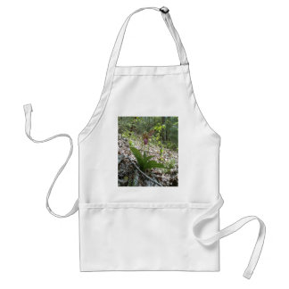 Pink lady slipper Orchid Adult Apron