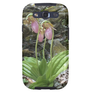 Pink lady slipper orchid galaxy s3 cover